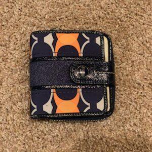 Navy Blue/Orange Coach Wallet